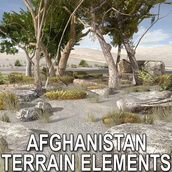 Afghan Terrain Elements Texture Maps