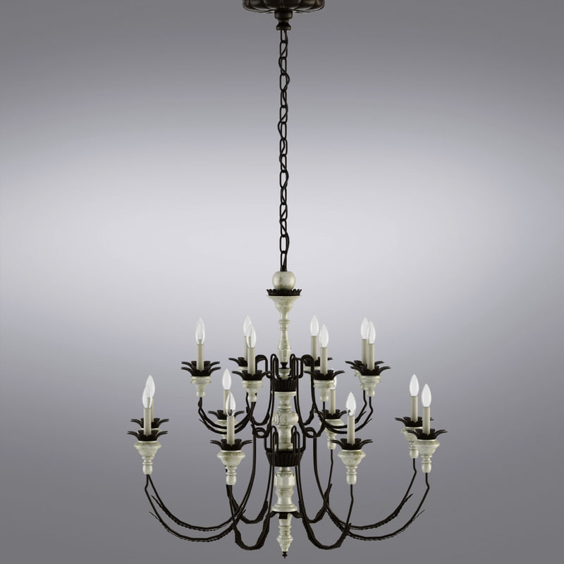 Parisian Wood & Zinc 15-Arm Chandelier_0002.jpg
