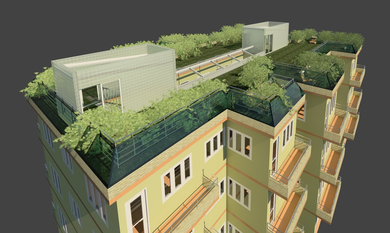 Multifamily Residential Building Green Rvt