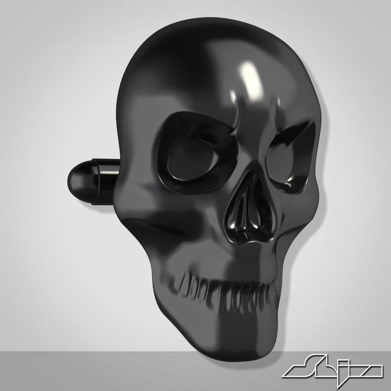 Cufflink 2 Skull