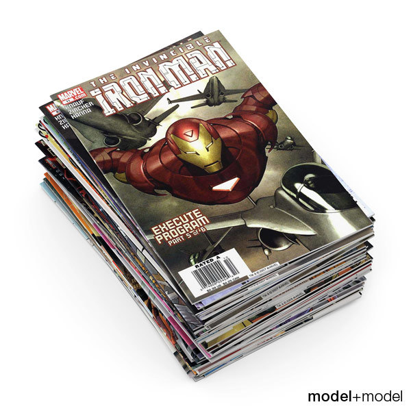 Comic books 3D Models