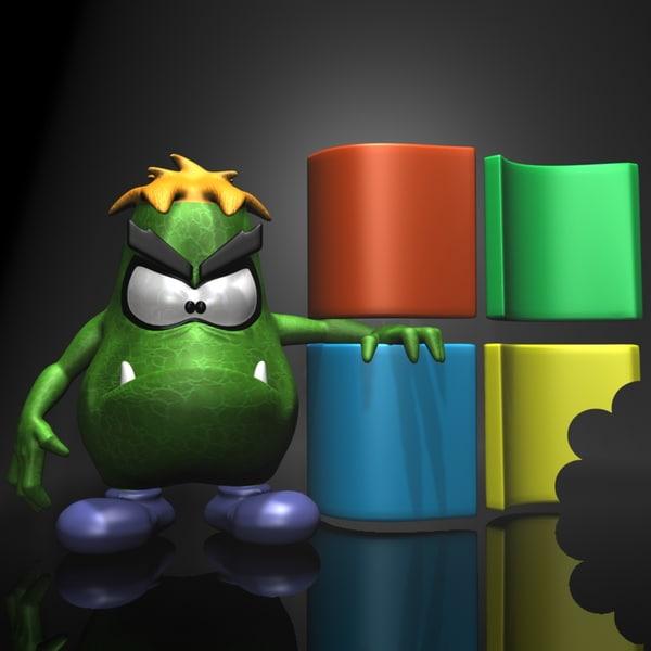 Sam the Virus 3D Models