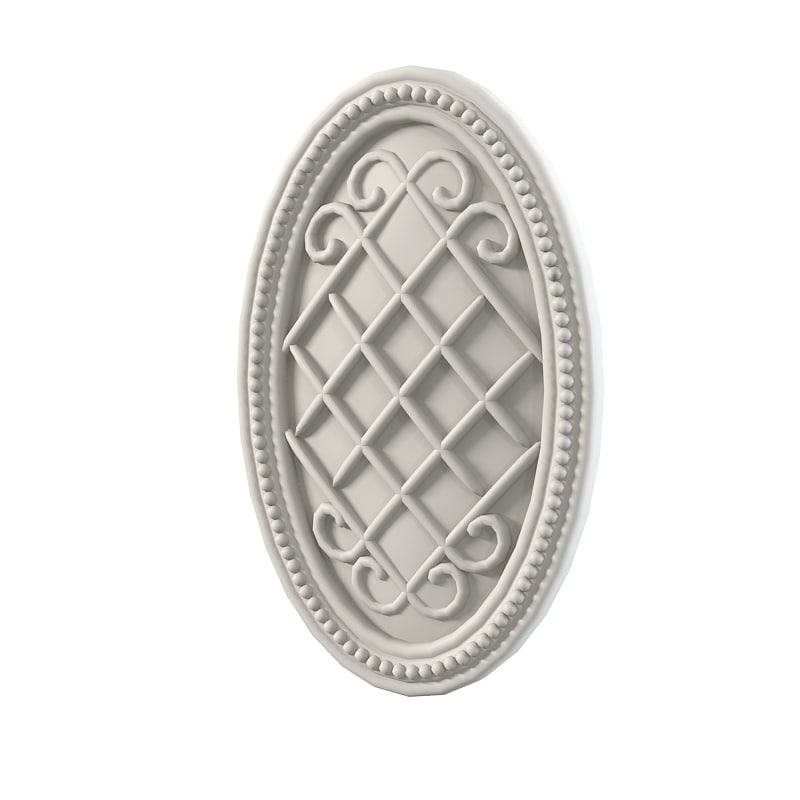 Decorative wall door medallion element carved classic baroque0001.jpg