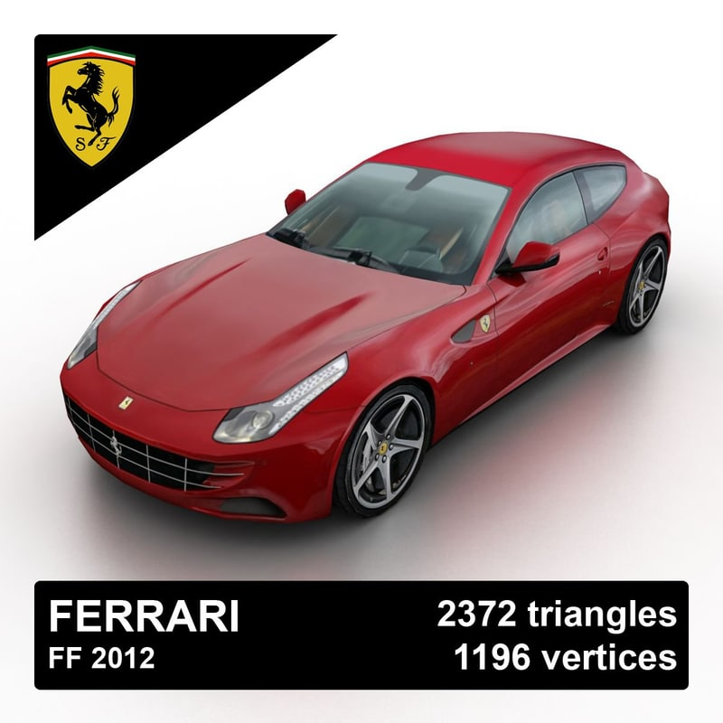 3d Model 2012 Ferrari Ff