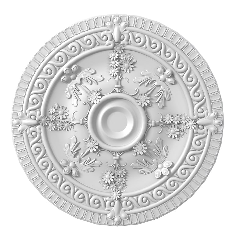 Petergof p34  carved medallion decoration round rose rosette ceiling decor classic baroque0001.jpg