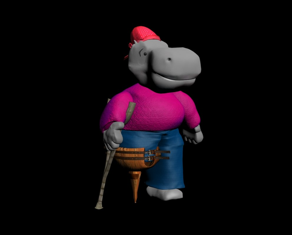 hippo-pirate (cartoon character)