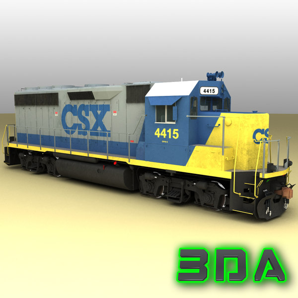 Locomotive EMD GP40-2 CSX 3D Models