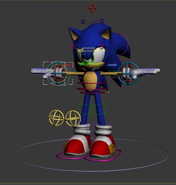 Sonic Complete Rig 3D Models