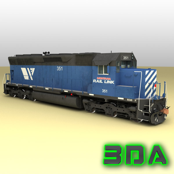 Locomotive EMD SD45 MRL 3D Models