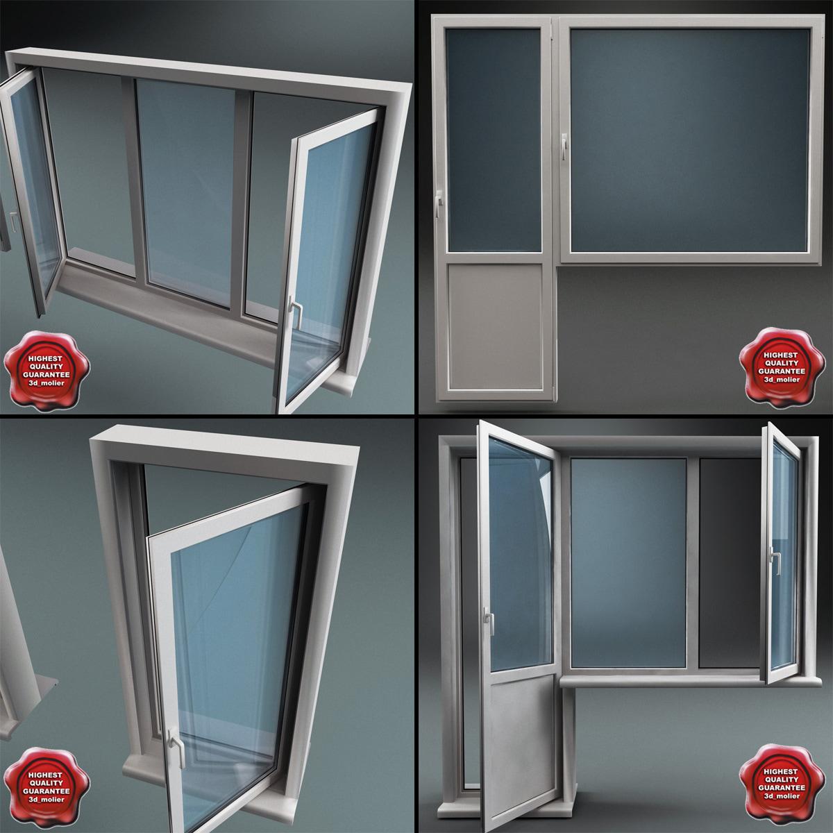 3d max plastic windows for Window plastic