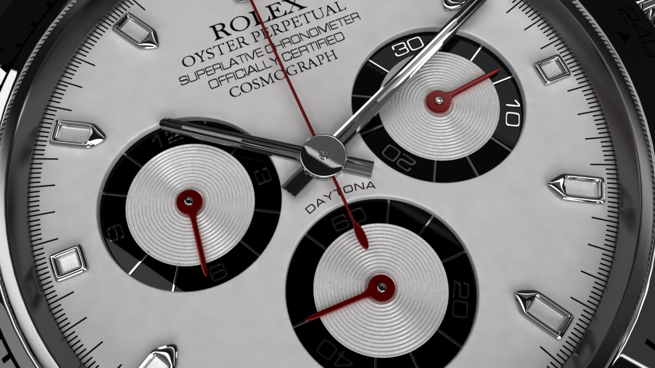rolex daytona 3d model