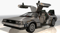 Delorean time machine 3D models