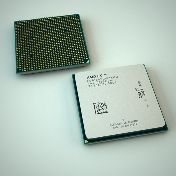 AMD CPU 3D Models