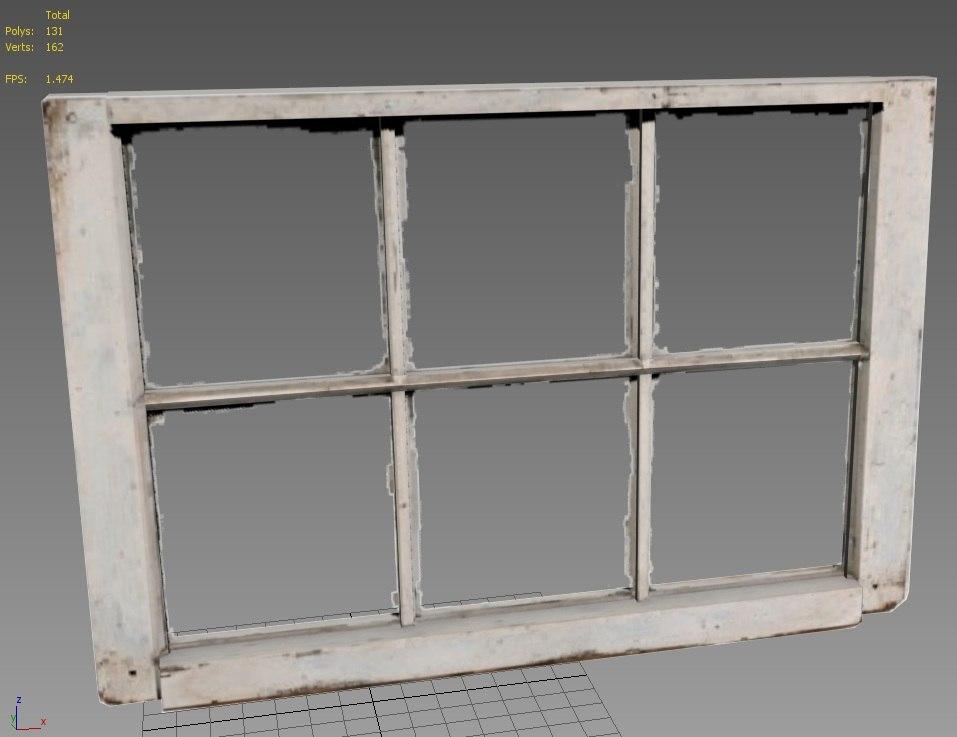 3d model of old window for Window 3d model