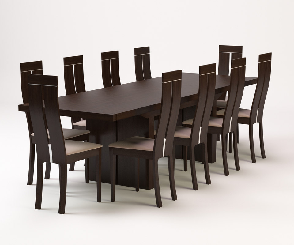 3d model dining table chair for Dining table models