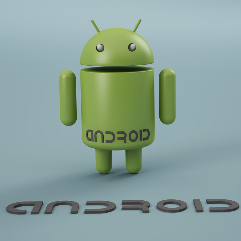 droid android logo 3d model