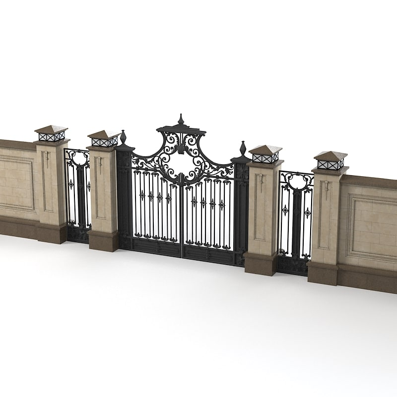 forged fence gate entrance classic forging villa luxury