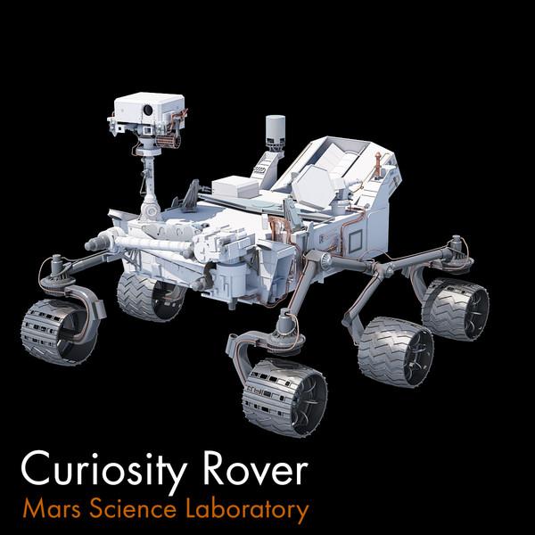 Mars Curiosity Rover 3D Models