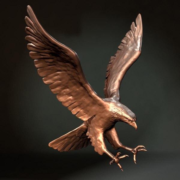 Eagle_statue 3D Models