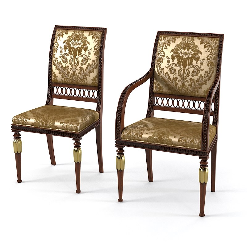 Armando Rho D E 261 Dining Side chair classic empire style classical 0001.jpg