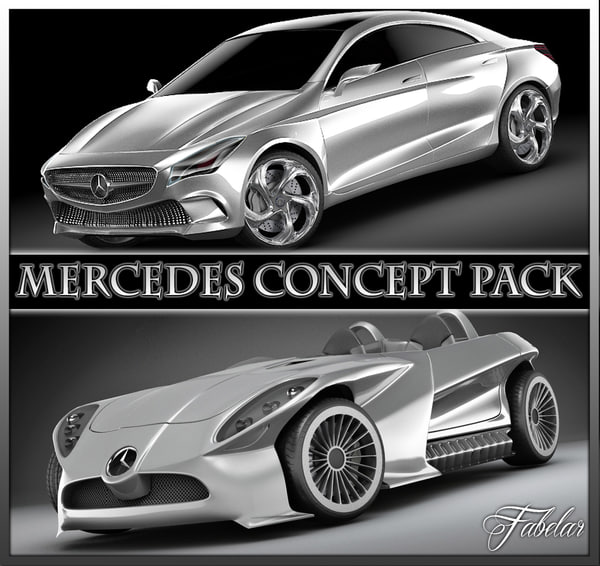 Mercedes Concept pack 3D Models