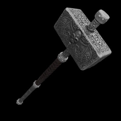 Cheap Medieval Hammer 3D Models
