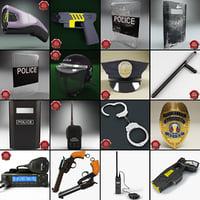 police baton 3D models