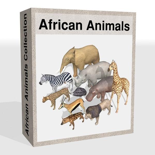 African animals 3D Models