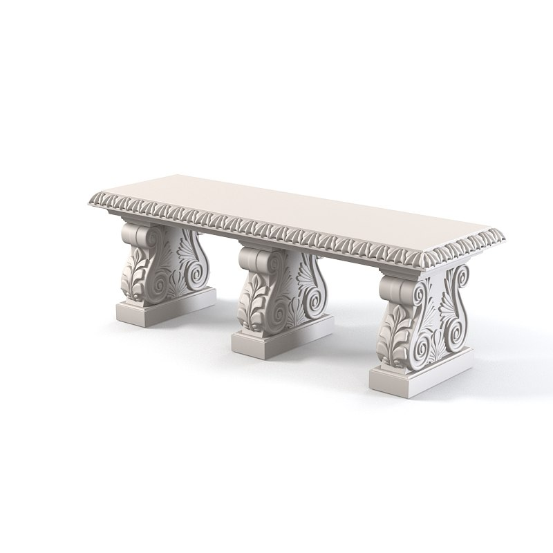 classic outdoor leaf cast stone garden bench antique park seat seating vintage architectural baroque caarved 0001.jpg