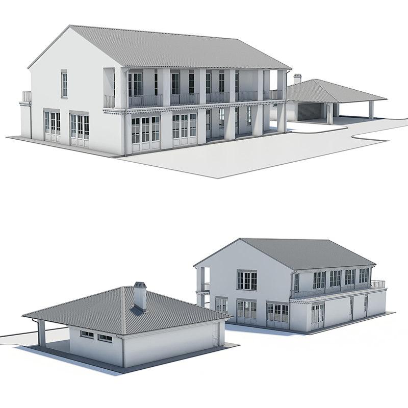 3d model modern villa for Model villa moderne