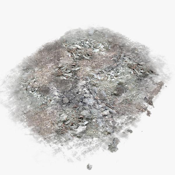 Debris Under Base Plane Texture Maps