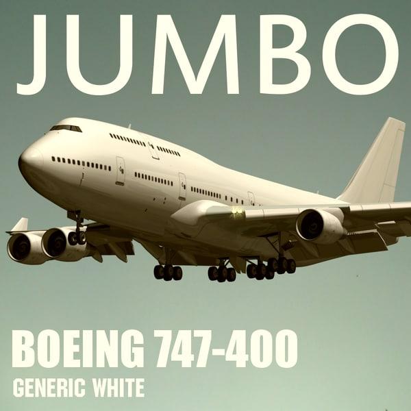 BOEING 747-400 Generic 3D Models