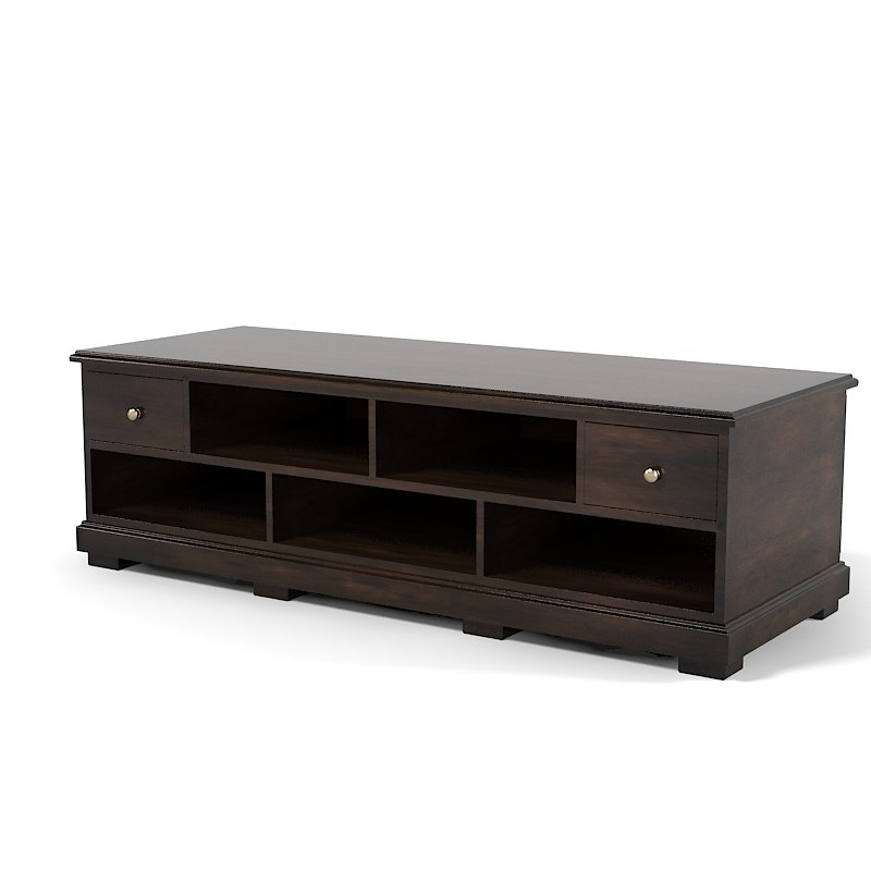Drexel heritage Low  entertainment  platform dh wood  Tv stand sideboard media console traditional 0001.jpg