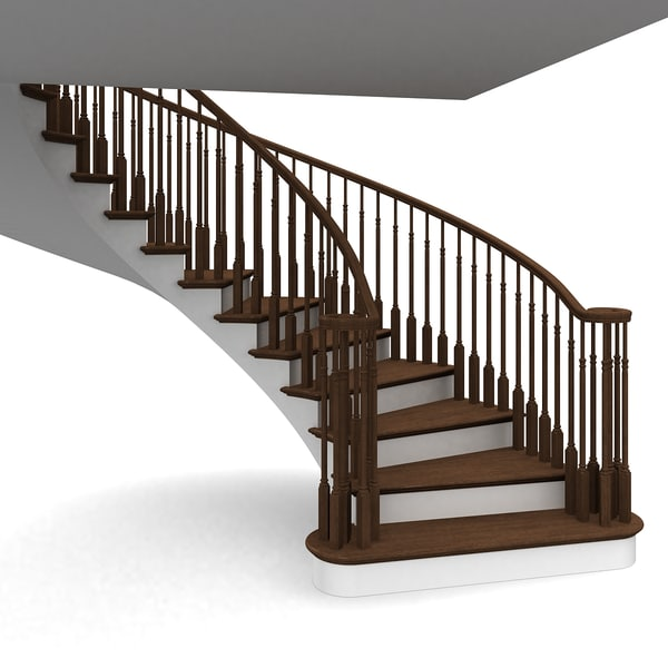 Curved Stairway 3D Models