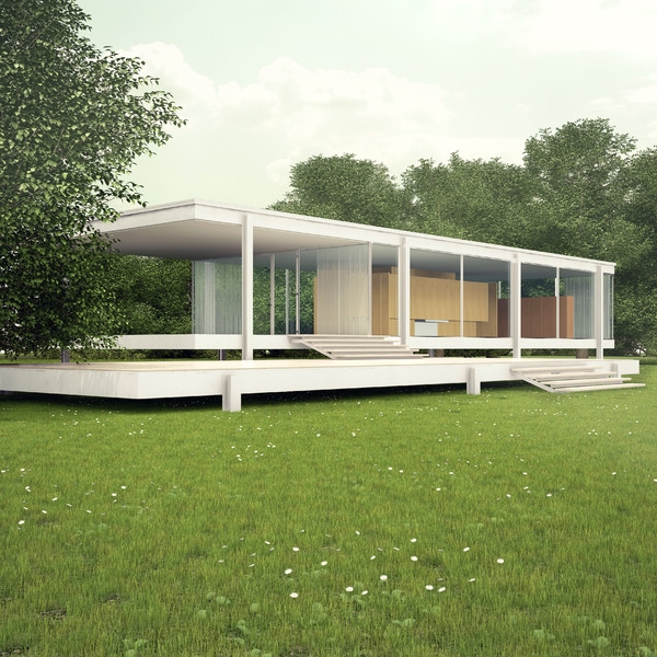Farnsworth House - Mental Ray 3D Models
