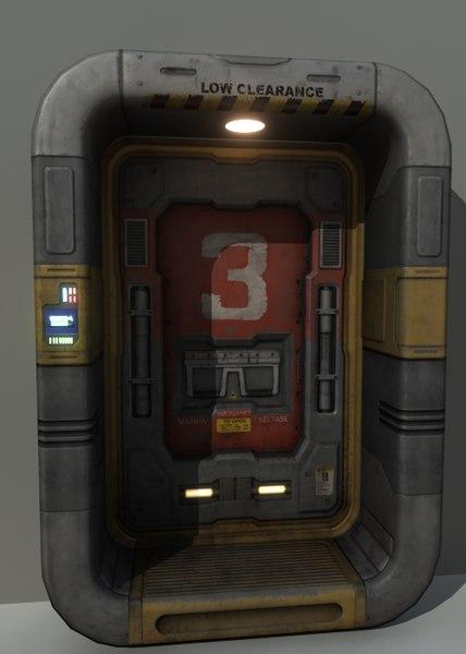 Sci-Fi_Door_01 Texture Maps