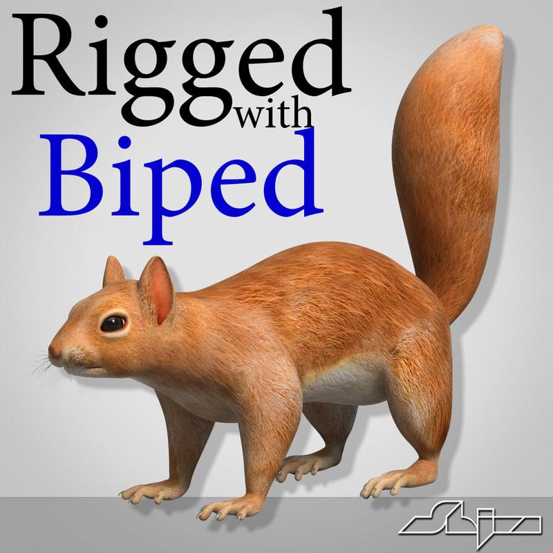 Squirrel (Biped Rig)