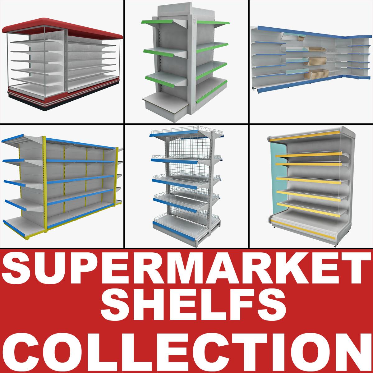 Supermarket Shelfs Collection 2