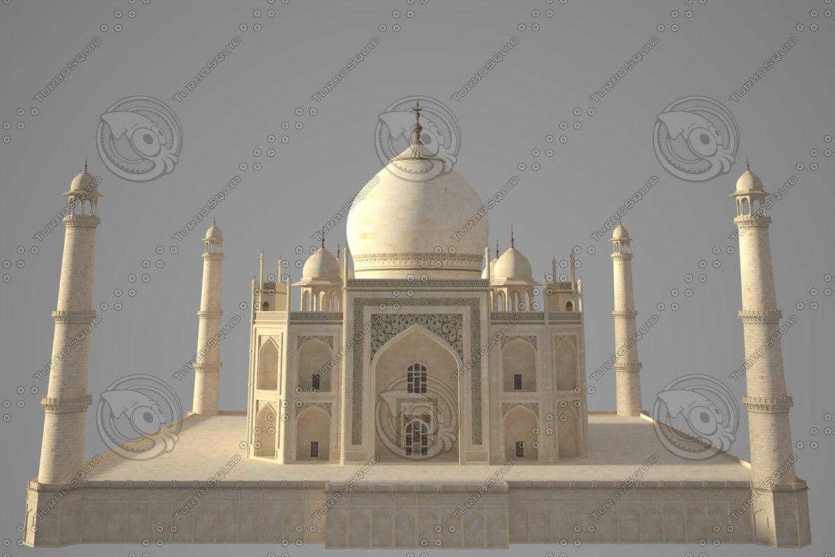 Taj Mahal 3d Image: 3d Model Taj Mahal
