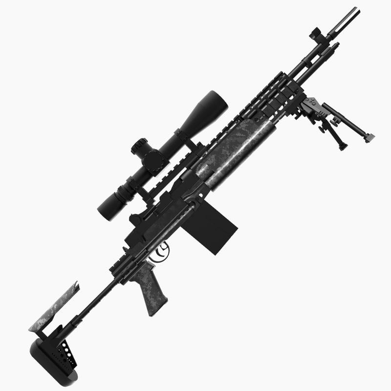 3dsmax m14 ebr M14 Sniper Rifle Usmc