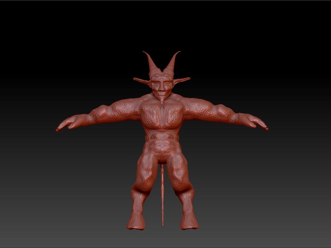 demon zbrush obj