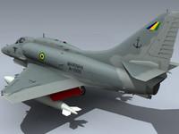 A-4 Skyhawk 3D models