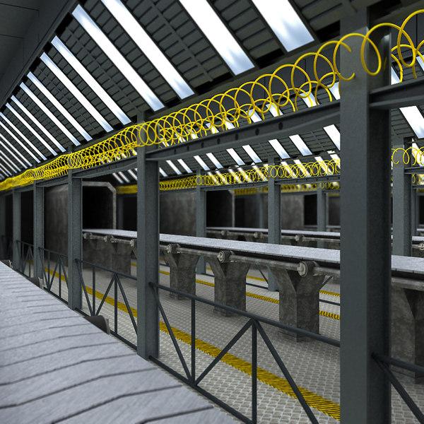 Assembly Line Interior 3D Models