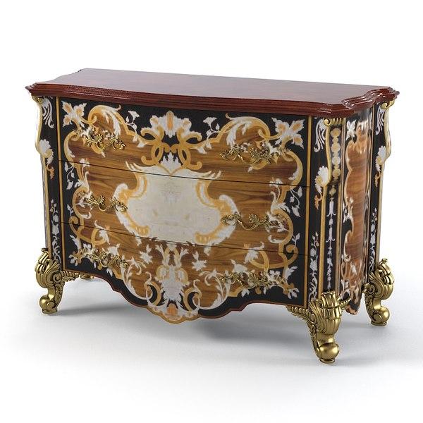 Armando Rho A 932 Classic Baroque Bedroom dresser 3D Models