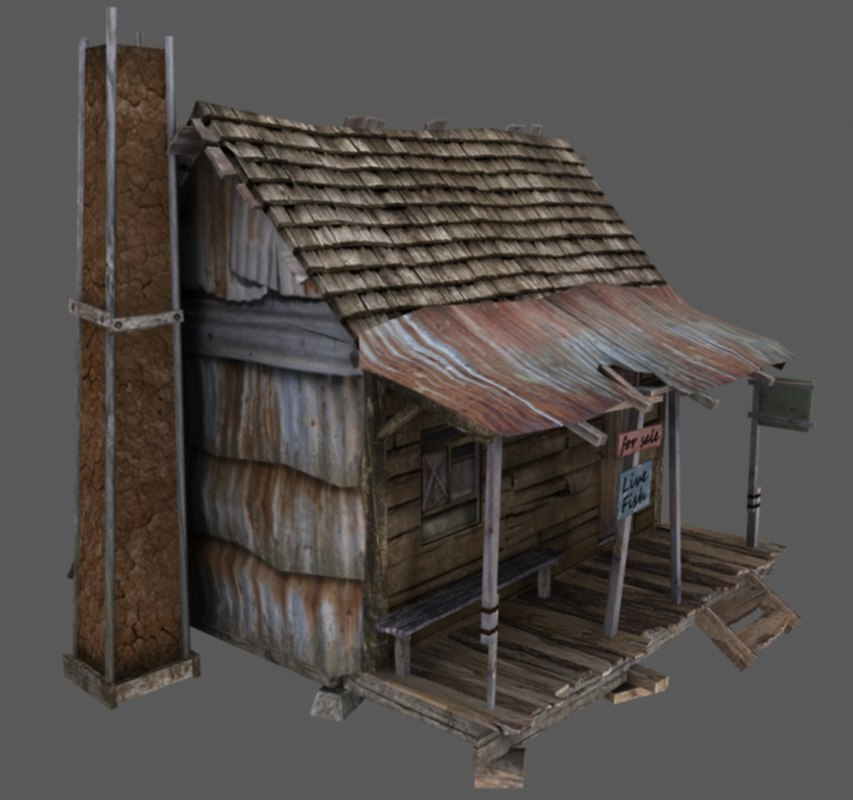 Old American Wooden House 3d Max