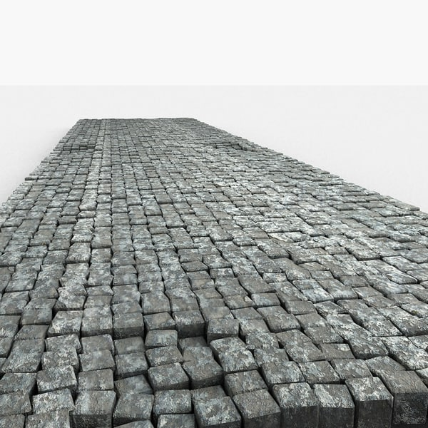 Cobble Pavement Road Stone Blocks Texture Maps
