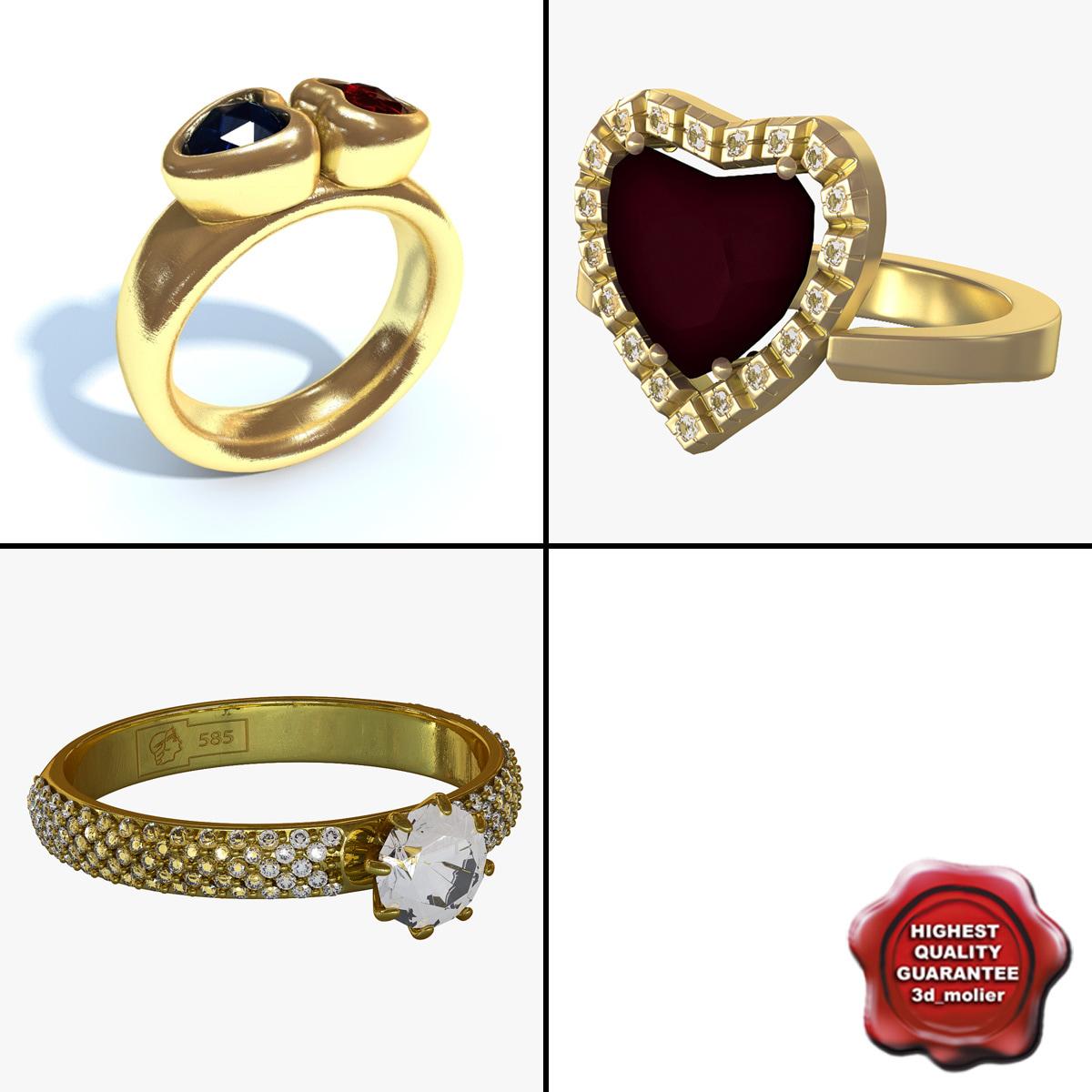 gold rings c4d
