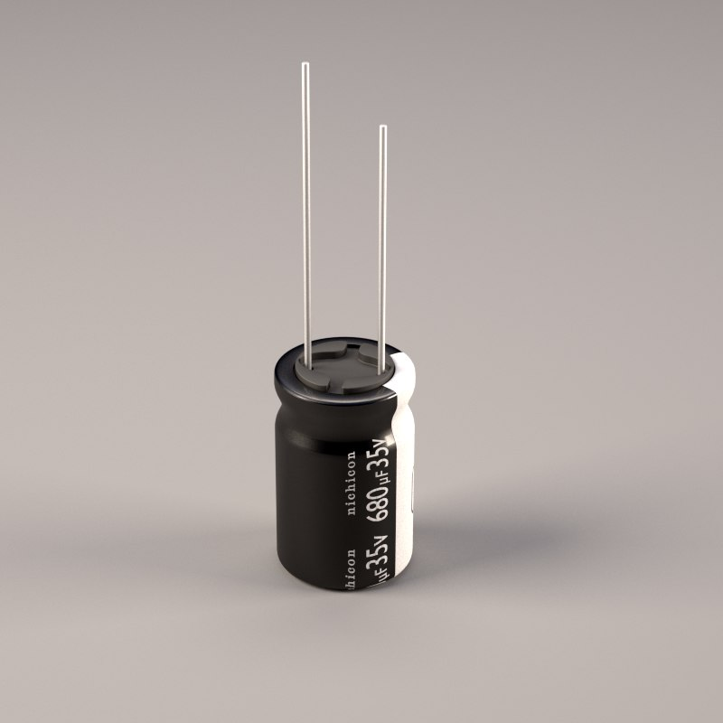 3d Physically Electrolytic Capacitor Model
