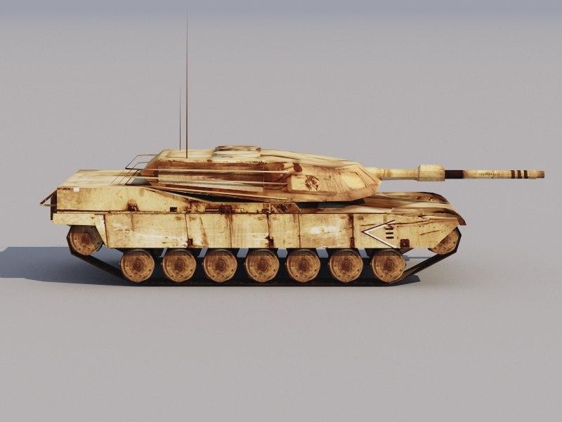 3D low-poly Abrams