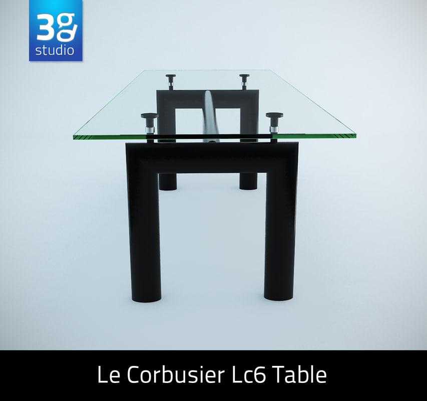 Le corbusier lc6 table 3ds - Table le corbusier lc6 ...
